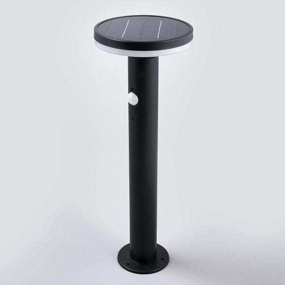 Solar-Sockellampe Eliano mit Bewegungsmelder, 45,5x16x16 cm, Edelstahl, schwarz | #3