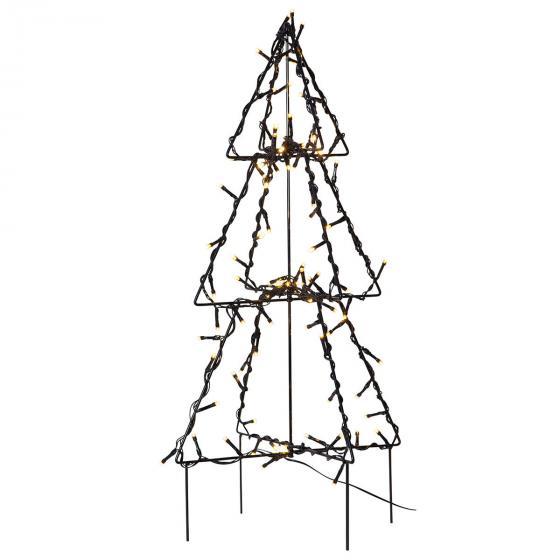 Star LED-Lichterbaum Foldy, 50x30x30 cm, Metall, schwarz | #3