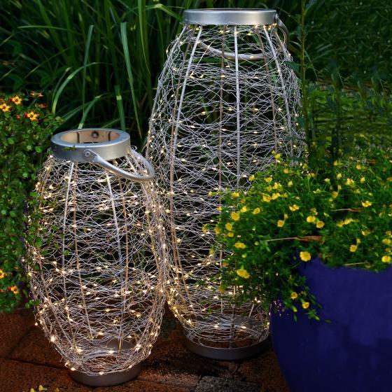LED-Laterne Sternenhimmel, 25x25x42cm, Edelstahl, silber | #3