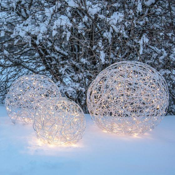 LED-Designkugel Trassel, 37 cm, Aluminium, silber | #3