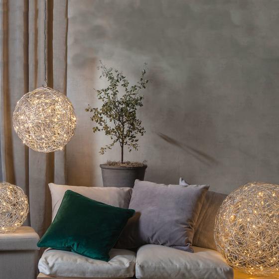 LED-Designkugel Trassel, 50cm, Aluminium, silber | #3