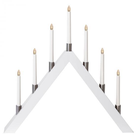 LED-Fensterleuchter Tall A, 66x63x7 cm, Holz, weiß | #3