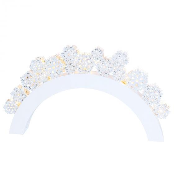 LED-Leuchtbogen Snowfall, 41x5x22cm, Holz, weiß   #3