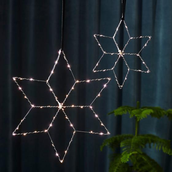 Star LED-Leuchstern Lolly, 45 cm, Metall, silber | #3