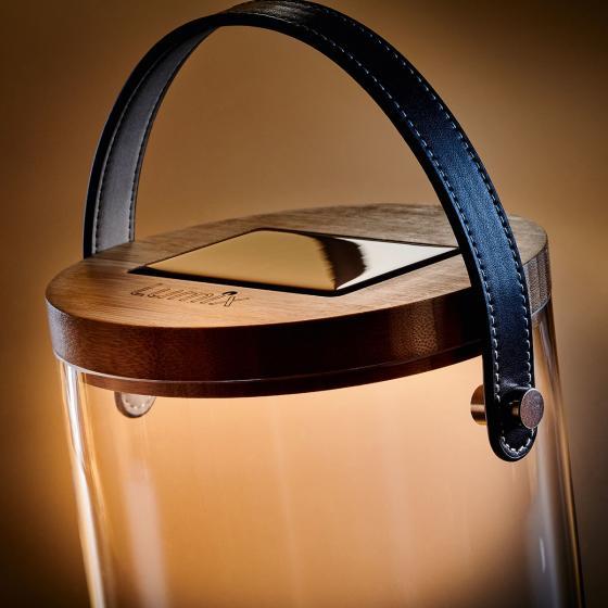 Deko Glas Long, 25,5x14,5x14,5 cm, Glas, Bambus, klar | #3