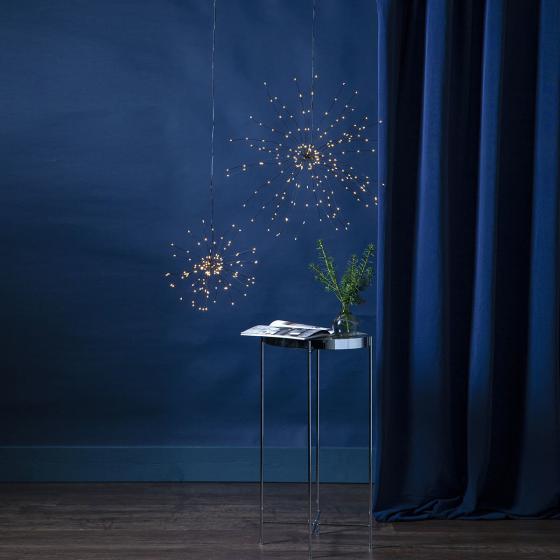 Star LED-Leuchtstern Firework, 26 cm, Metall, schwarz | #3