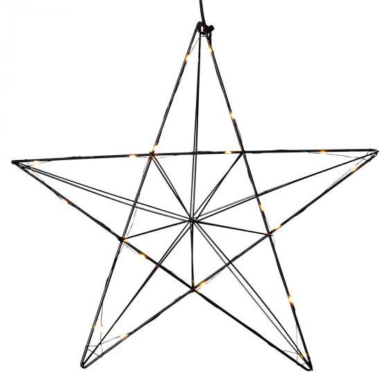 Star LED-Leuchtstern Line, 36x38x10 cm, Metall, schwarz | #3