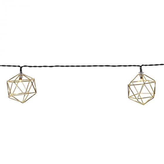 LED-Lichterkette Edge, 225 cm, Metall, gold | #3