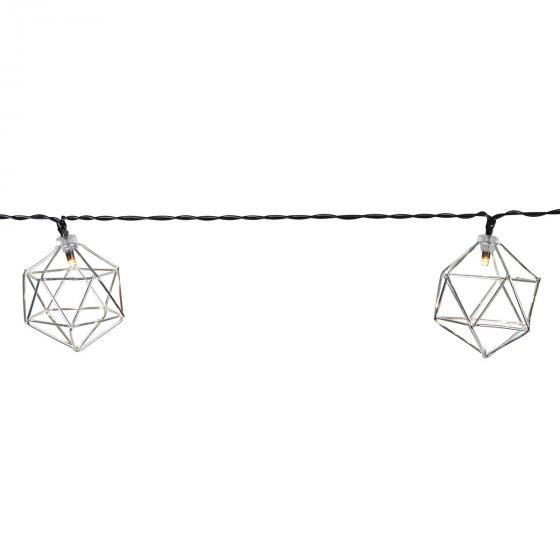LED-Lichterkette Edge, 225 cm, Metall, silber   #3