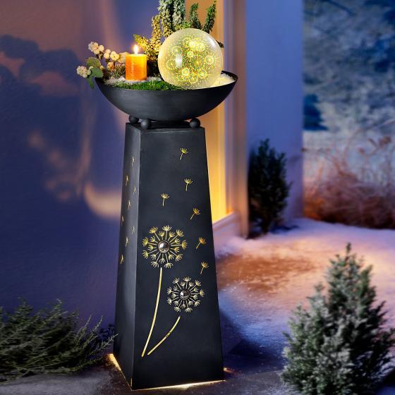 Pflanzsäule Pusteblume, mit LED-Beleuchtung & Timer, 70 cm, Ø 34 cm, anthrazit | #3