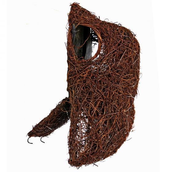 Nisttasche, wasserdichte Membran im Dach, 14x11x29 cm, aus natürlichem Reisig | #3