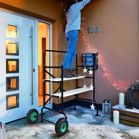 Mobiles Gerüst mit luftgefüllten Reifen, Tragkraft ca. 150 kg | #3