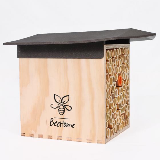 Insektenhotel BeeHome mit Gutschein für Mauerbienenkokons | #3