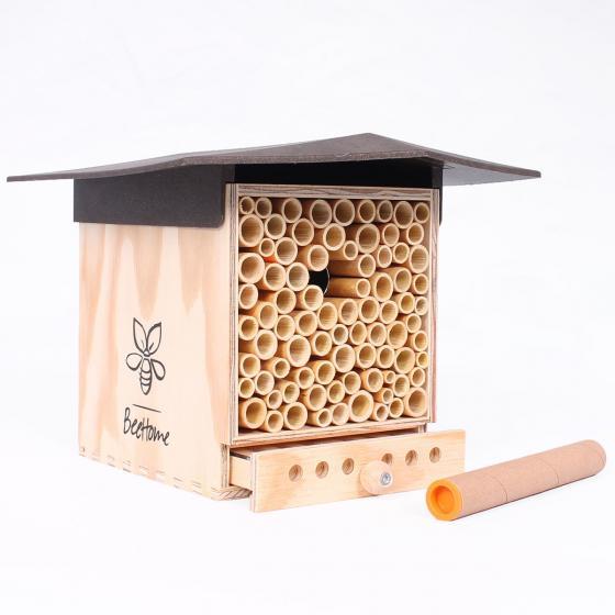 Insektenhotel BeeHome Observer mit Gutschein für Mauerbienenkokons | #3