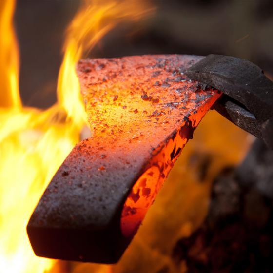 Holzspalthammer 3,2 kg, Lederstiel- und Lederschneidenschutz und USA-Hickorystiel | #3