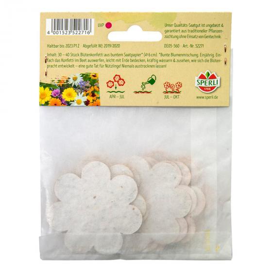 Konfetti aus Saatpapier in Blütenform | #3