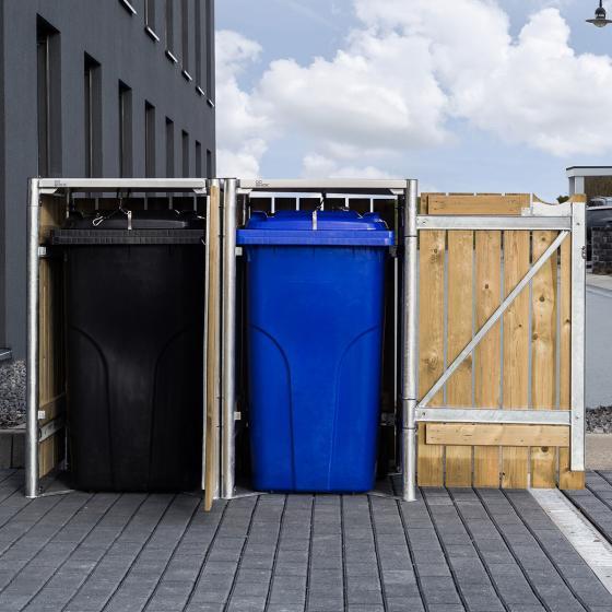 Mülltonnenbox 140l Holz, 2er Box, Natur | #3