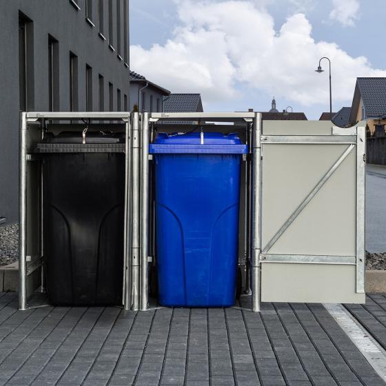 Mülltonnenbox 240l Kunststoff, 2er Box, schwarz | #3