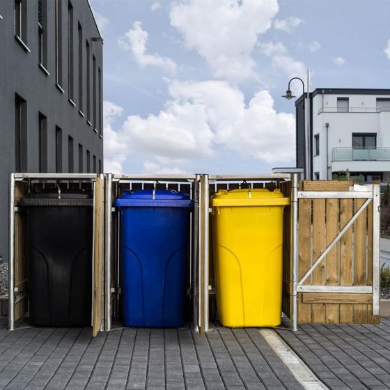 Mülltonnenbox 240l Holz, 3er Box, Natur | #3
