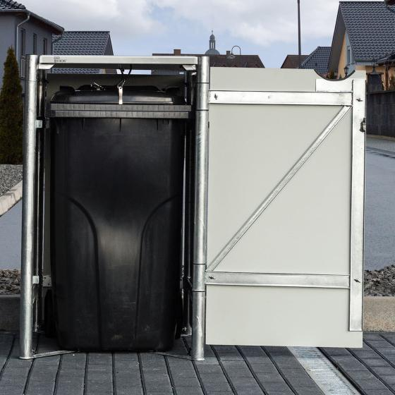 Mülltonnenbox 240l Kunststoff, 1er Box, grau | #3