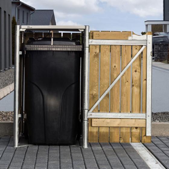 Mülltonnenbox 140l Holz, 1er Box, Natur | #3