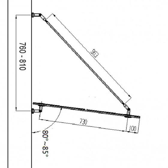 Glasvordach 150 x 90 cm | #3