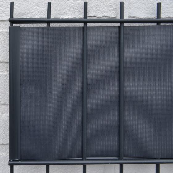 PVC Sichtschutz Zaunfolie dunkelgrau | #3
