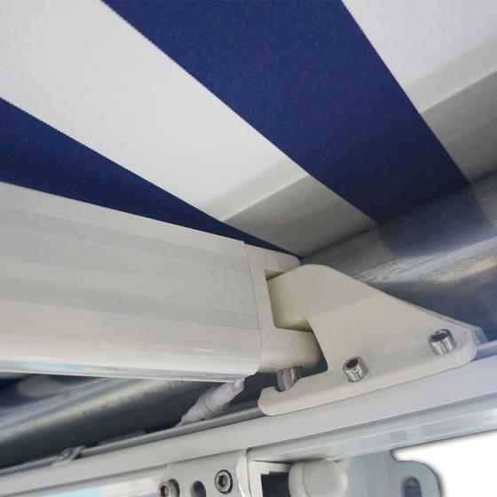 Vollelektrische Kassettenmarkise Elos V2 marineblau-weiß 350 x 250 cm inkl. Windsensor | #3