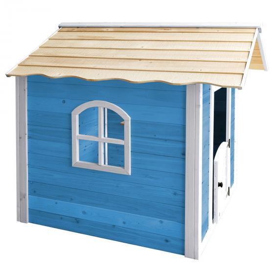 Kinder Spielhaus großer Palast, blau und weiß lasiert, ca. 138 x 118 x 132,5 cm | #3