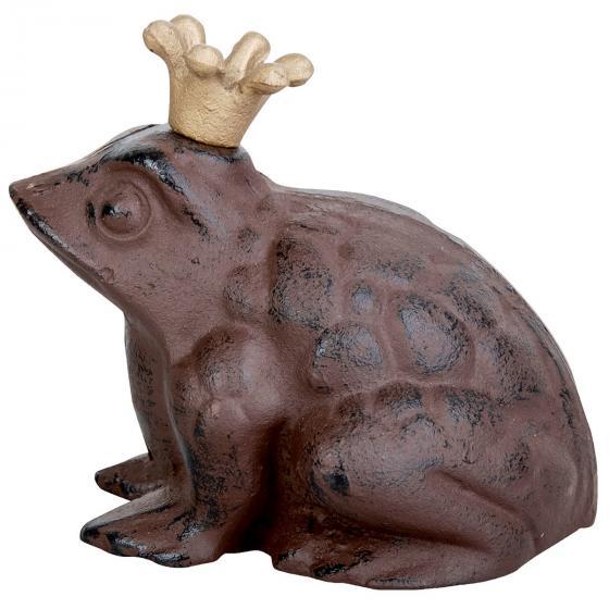 Gartenfigur Froschkönig, Gußeisen, ca. 20 cm | #3