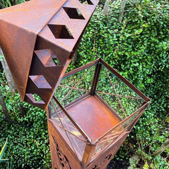 Laterne Garten Eden, Edelrost, 135 cm | #3