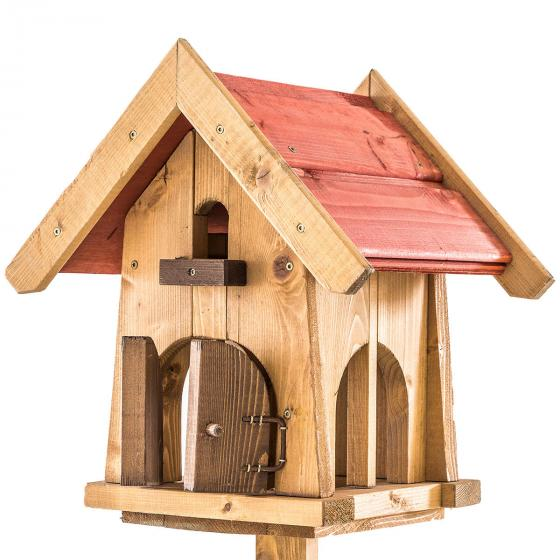 Vogelfutterhaus Max, mit Ständer, Holz | #3