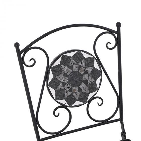 Klappstuhl Mosaik, Stahlgestell mit Keramikfläche, ca. 49,5 x39 x 88,5 cm | #3