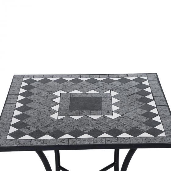 Tisch Mosaik, Stahlgestell mit Keramikfläche, ca. 60 x 60 x 69,5 cm | #3