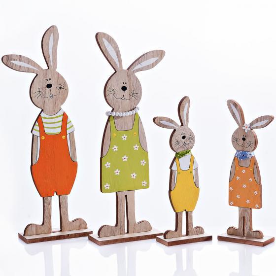 Dekofiguren Set Hasenfamilie, 4-teilig | #3