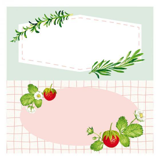 Küchen-Etiketten für Gläser und Flaschen, Rote Beeren | #3