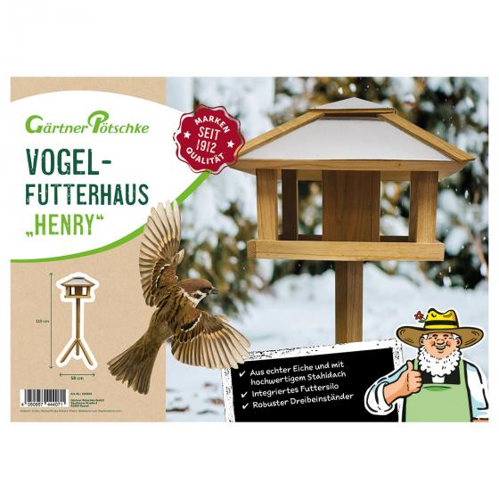 Vogelfutterhaus Henry mit Futtersilo, Stahldach | #3