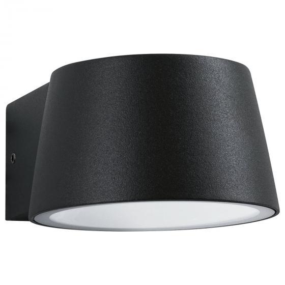 LED Outdoor Wandleuchte Capea, 3000K 6W 230V IP44, Alu, schwarz   #3
