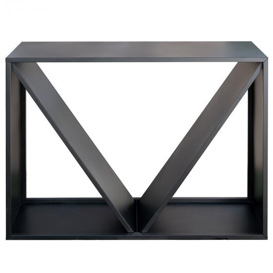 Kaminholzregal 114,5x35x80 cm, schwarz | #3
