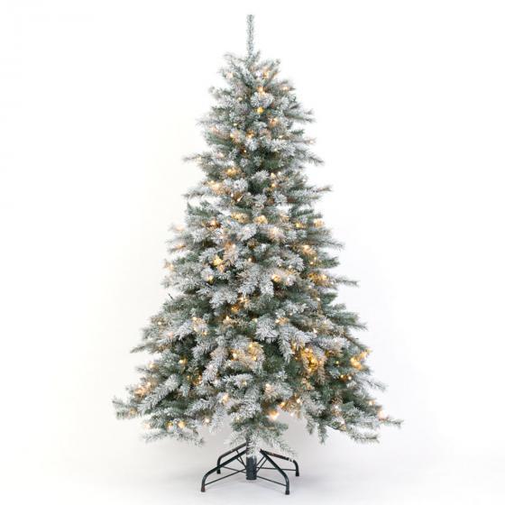 Künstlicher Weihnachtsbaum Fichte, Schneeoptik, mit LED-Beleuchtung, 210 cm   #3