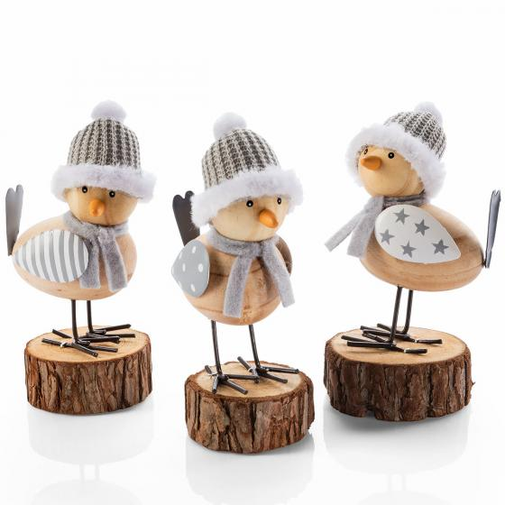 Dekofiguren Wintervögel, 3er-Set   #3