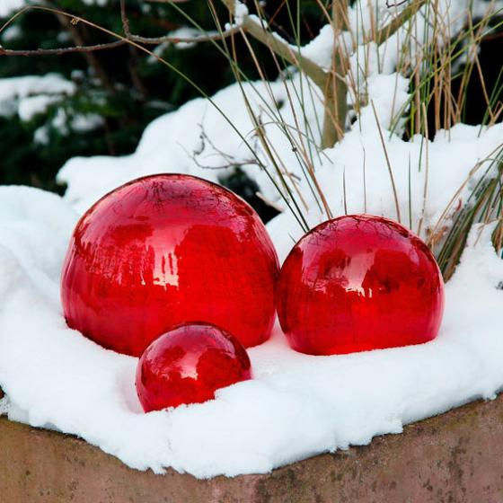 Glaskugel Weihnachtsglanz, rot 10 cm | #3