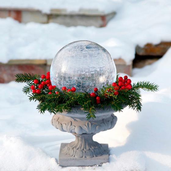Glaskugel Weihnachtsglanz, klar 20 cm | #3