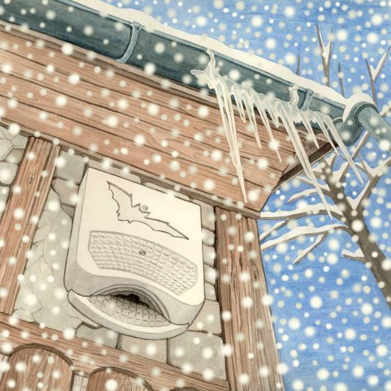 Fledermaus-Winterquartier 1WQ, 12 x 38 x 58 cm, atmungsaktiver Leichtbeton, weiß | #3
