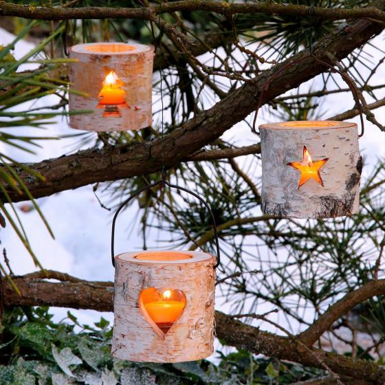 Teelichthalter Natürliche Weihnacht, 3er-Set | #3