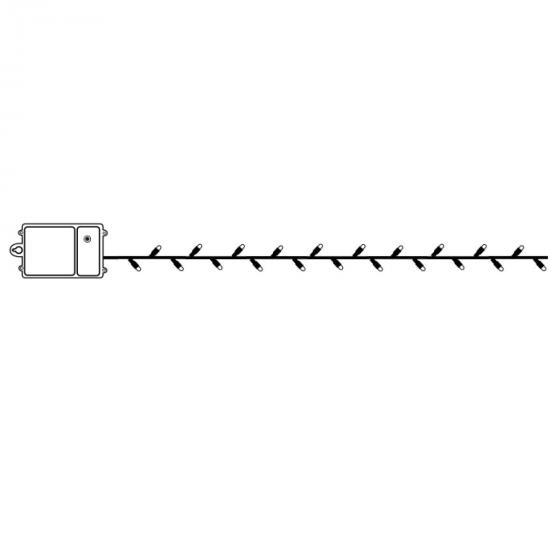 Star Batterie-LED-Lichterkette 40 LEDs, 320 cm, schwarz | #3