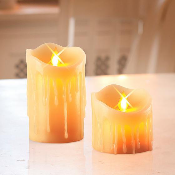 LED-Echtwachskerzen Kerzenzauber, 2er-Set | #3