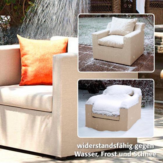 Outdoor Sessel Daisy ohne Armlehnen beige | #3