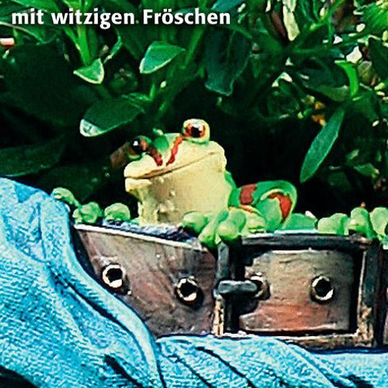 Pflanzgefäß Pflanz-Jeanshose mit Fröschen | #3