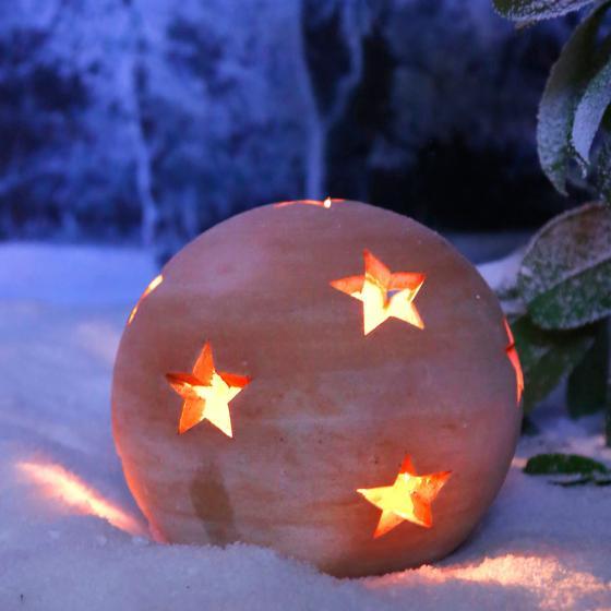 Terracotta-Dekokugel mit Sternen 22 cm | #3